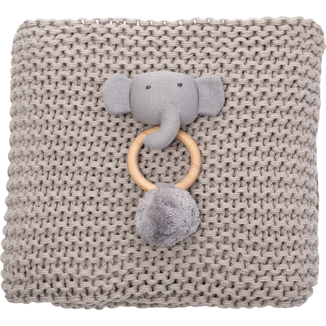 Organic Cotton Comfy Knit Baby Gift Set, Gray