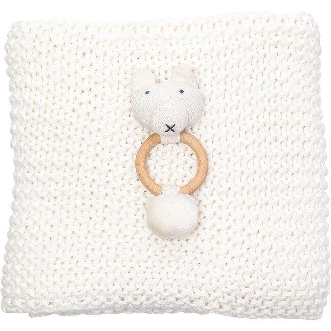 Organic Cotton Comfy Knit Baby Gift Set, Soft White