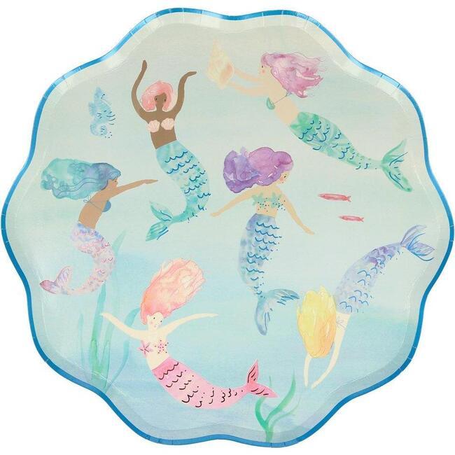 Mermaids Swimming Plates