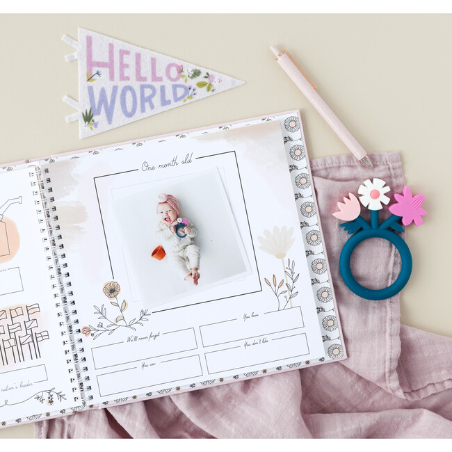 Wildflower Meadow Luxury Memory Baby Book