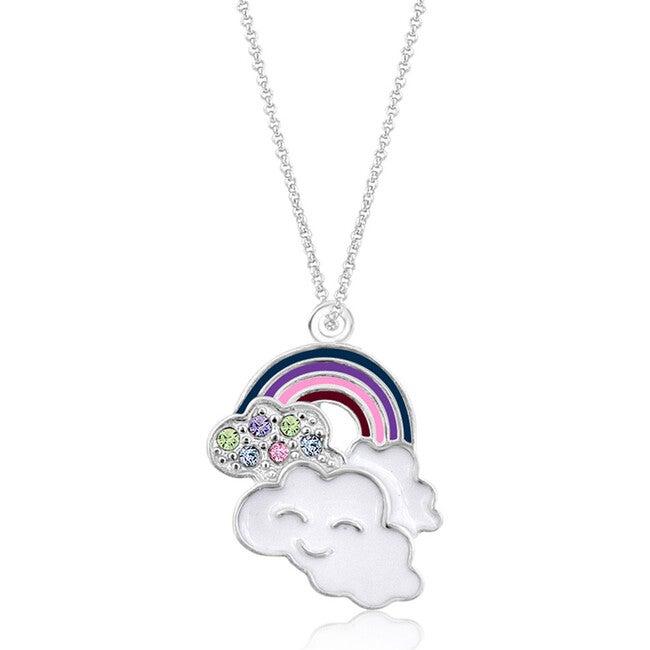 Rainbow Enamel Pendant Necklace