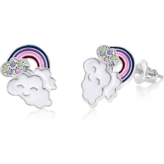 Rainbow Enamel Screwback Earrings - Earrings - 1