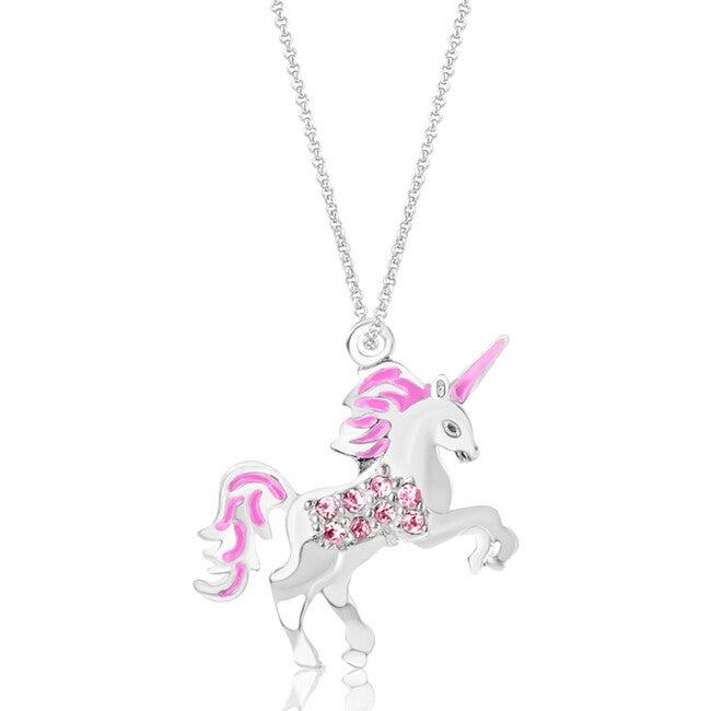 Unicorn Pendant Necklace, Pink