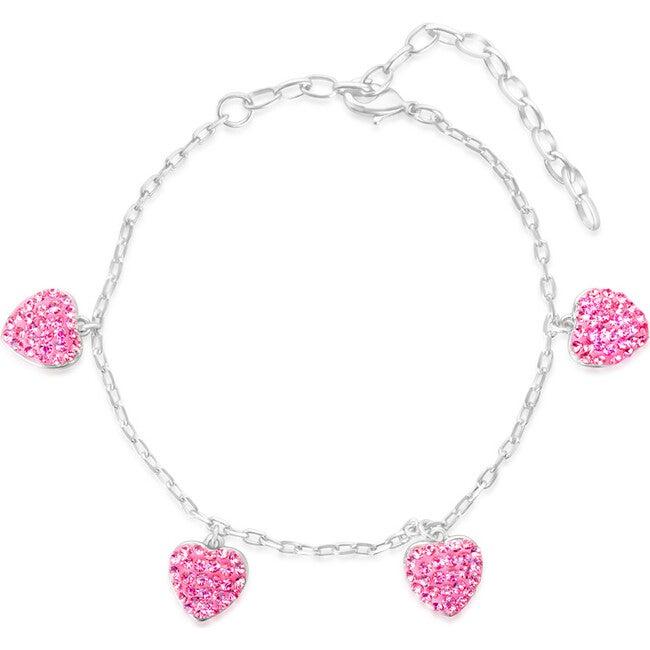 Heart Bracelet, Pink