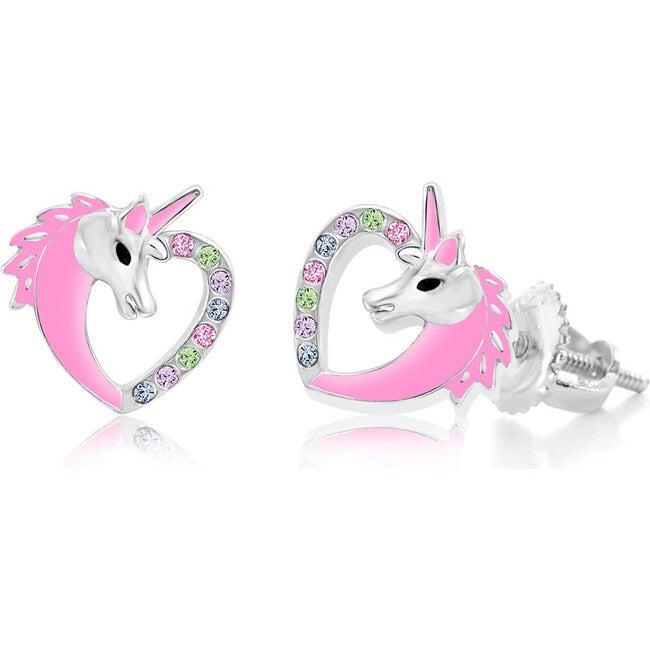 Enamel Unicorn Screwback Earrings
