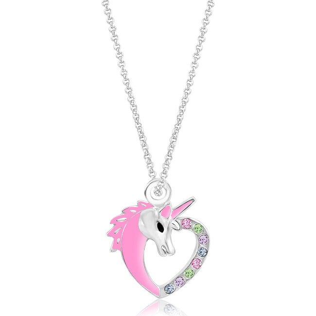 Enamel Unicorn Pendant Necklace