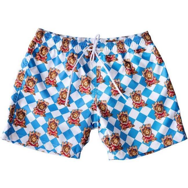 Boys Lion King Swim Trunks, Blue