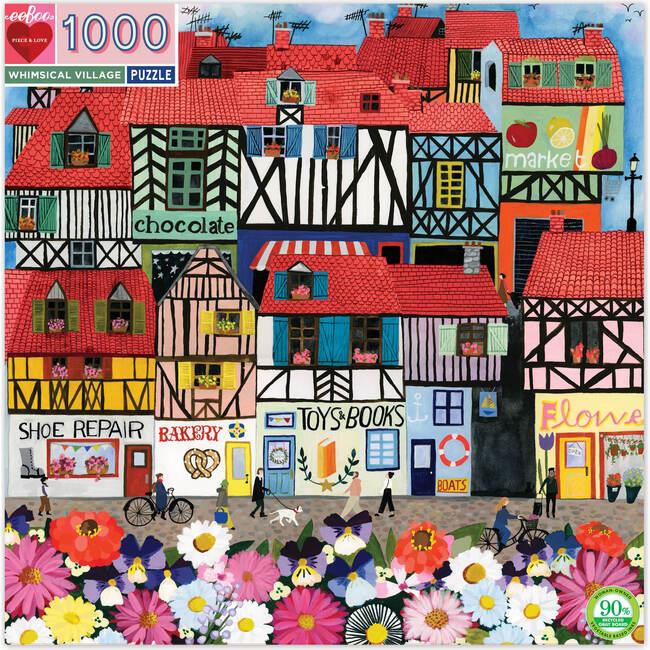 Whimsical Village 1000-Piece Puzzle - Puzzles - 1