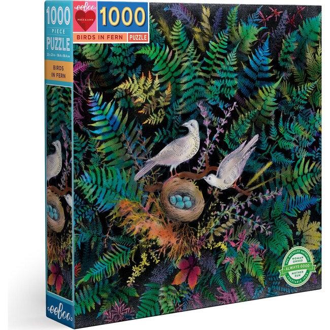 Birds in Fern 1000-Piece Square Puzzle