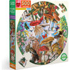 Mushrooms and Butterflies 500-Piece Round Puzzle - Puzzles - 1 - thumbnail