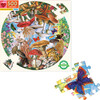Mushrooms and Butterflies 500-Piece Round Puzzle - Puzzles - 2