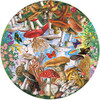 Mushrooms and Butterflies 500-Piece Round Puzzle - Puzzles - 4