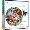 Mushrooms and Butterflies 500-Piece Round Puzzle - Puzzles - 5