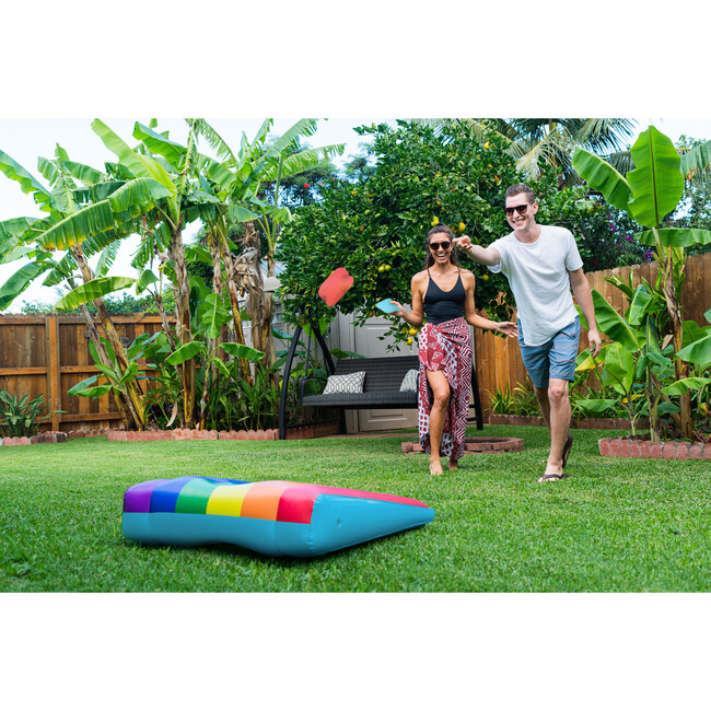 Floating Inflatable Cornhole Toss Rainbow Collection