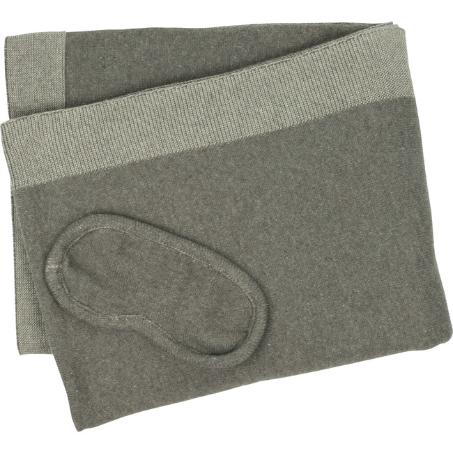 Reversible Solid Throw Set, Dark Brown/Grey