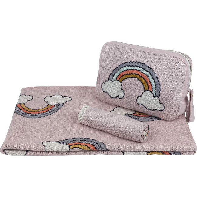 Rainbow Baby Blanket Set, Pink