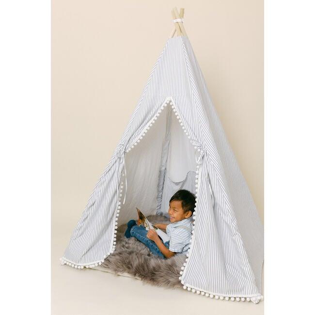 Elijah Play Tent, Black Ticking