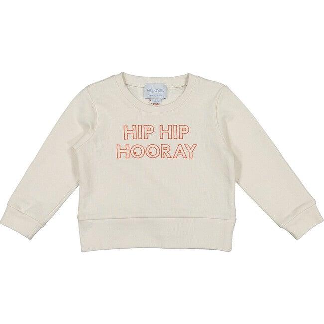 Hip hip Sweatshirt, Ecru