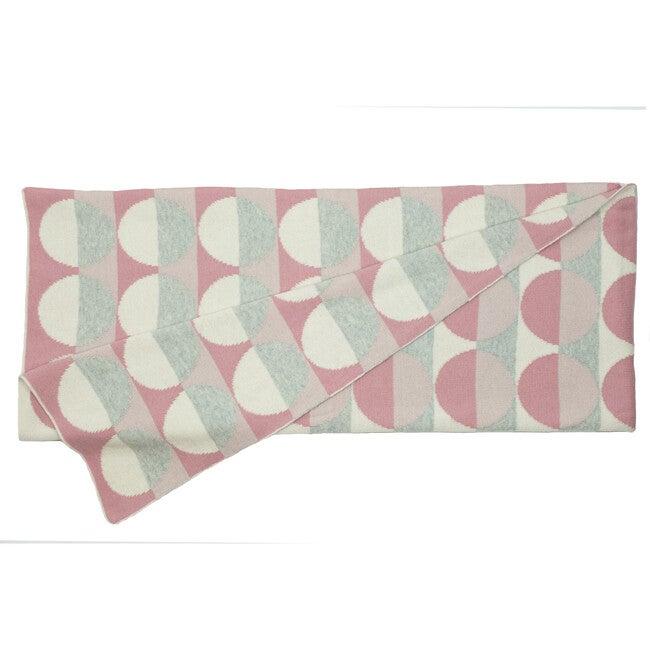 Circles Reversible Baby Blanket, Pink/Cream Multi