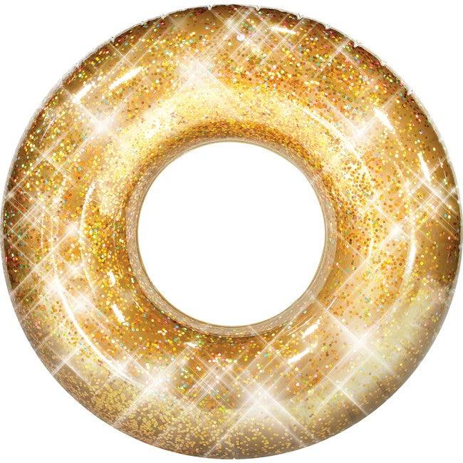 "Jumbo 48""  Pool Tube, Gold Glitter"