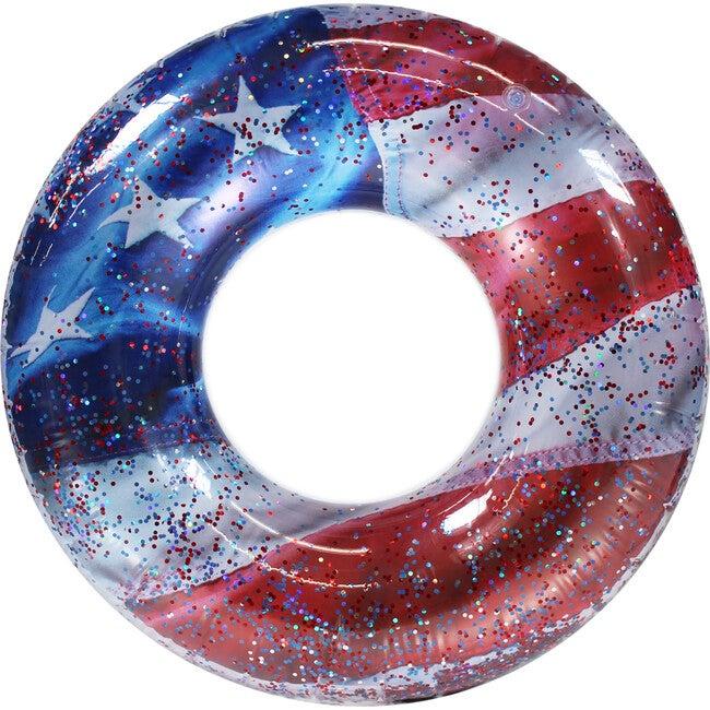 "Stars & Stripes 48"" Jumbo Glitter Pool Tube"