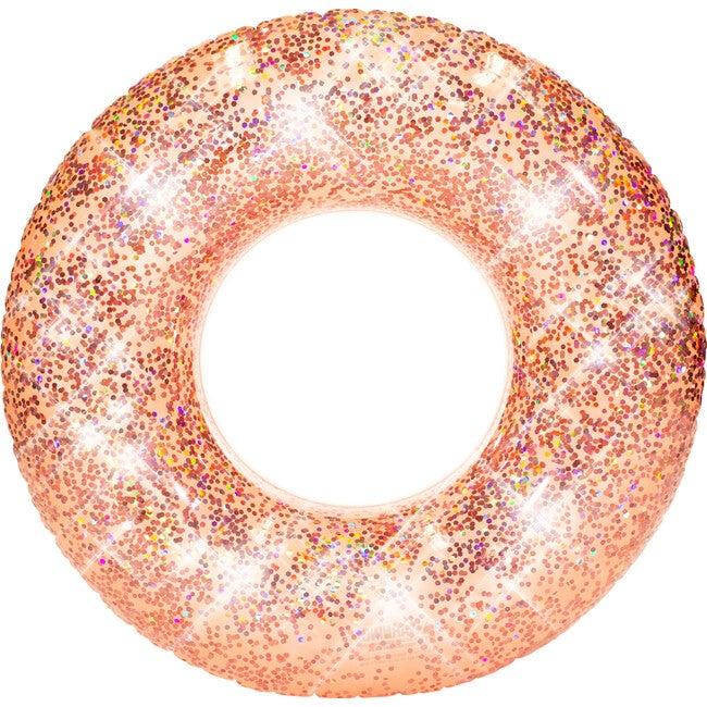"""Jumbo 48""""  Pool Tube, Rose Gold Glitter"""