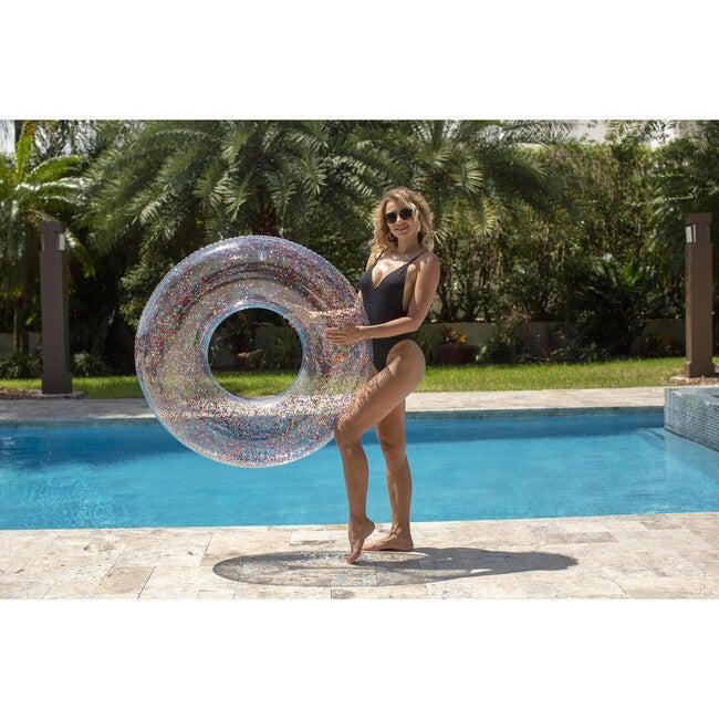 """Jumbo 48""""  Pool Tube, Multi Color Glitter"""