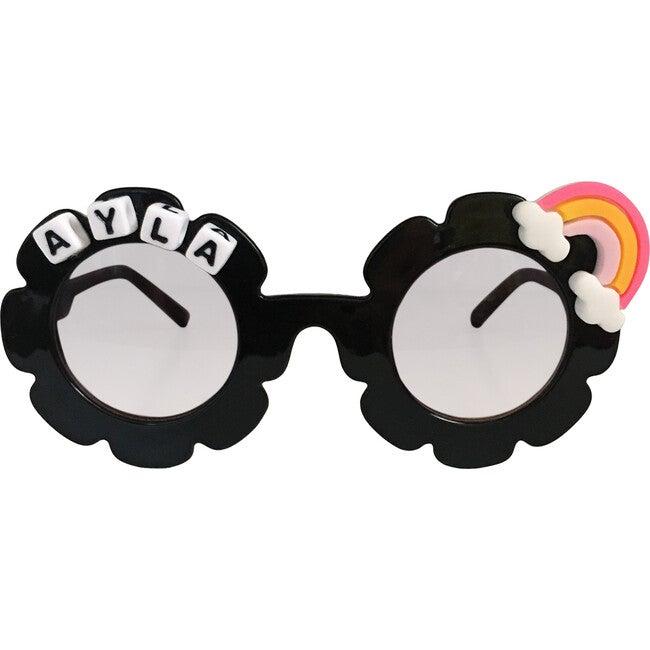 Rainbow Monogrammable Sunglasses, Black