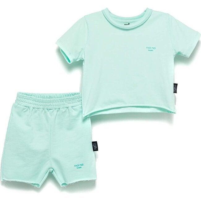 Tee & Shorts Set, Mint