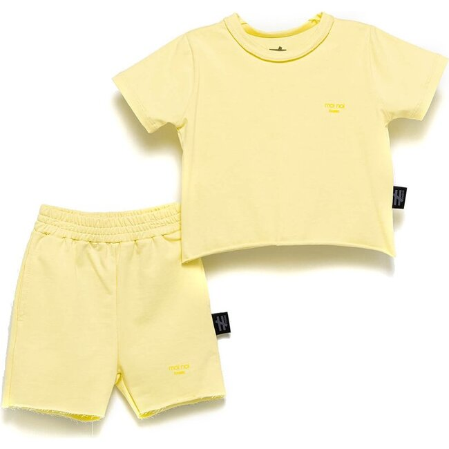 Tee & Shorts Outfit, Yellow