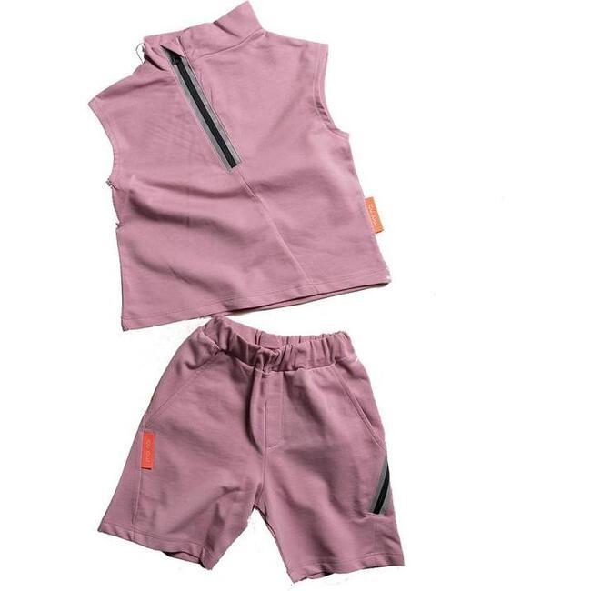 Tank Top & Shorts Set, Mauve