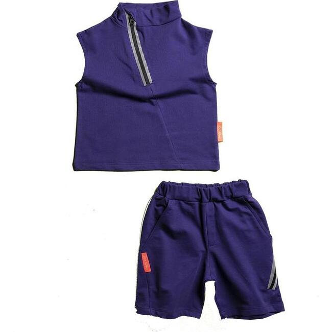 Tank Top & Shorts Set, Purple