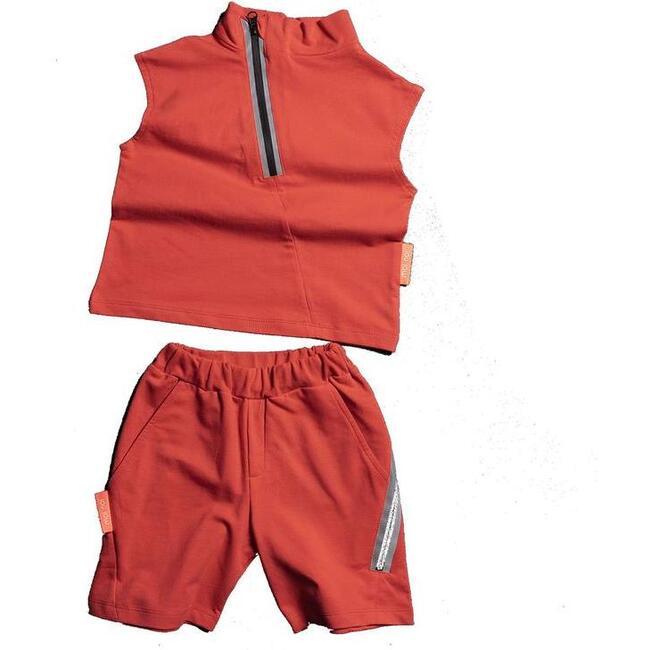 Tank Top & Shorts Set, Coral