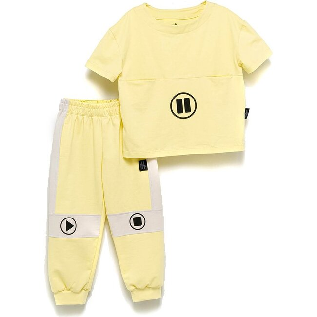 Play Pause Outfit Set, Yellow