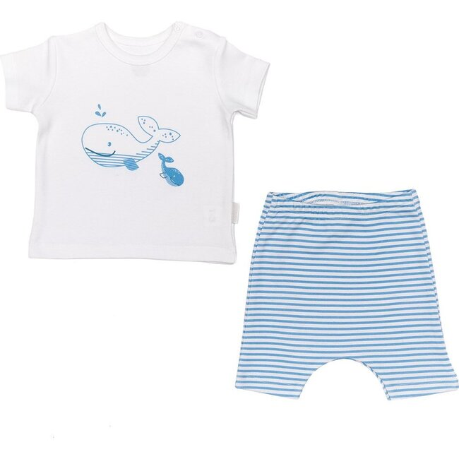 Whale Graphic Outfit, White