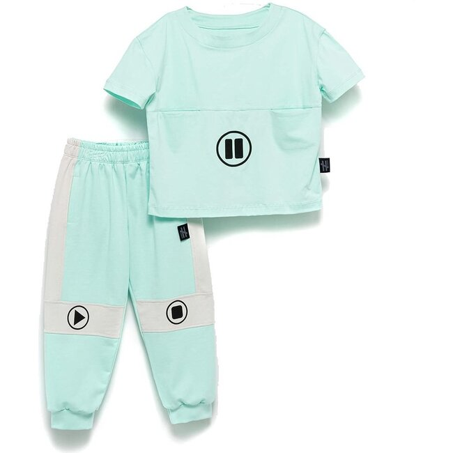 Play Pause Outfit Set, Mint