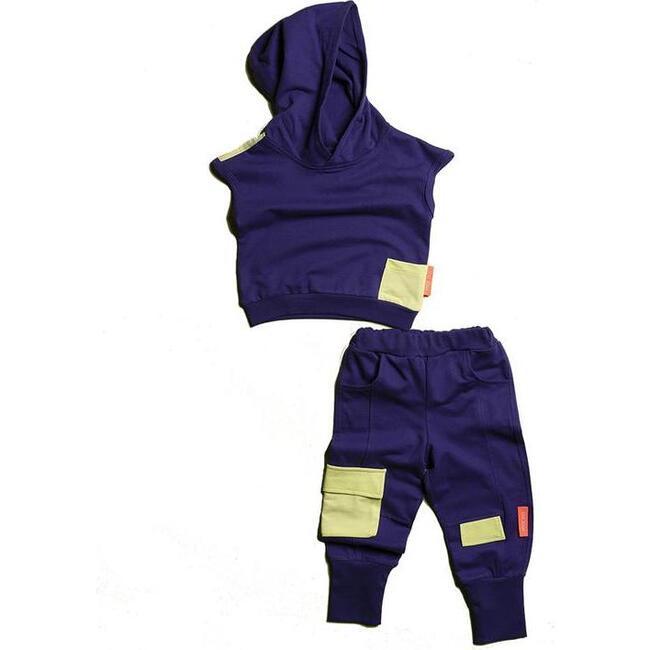Hooded Tank & Pants Set, Purple