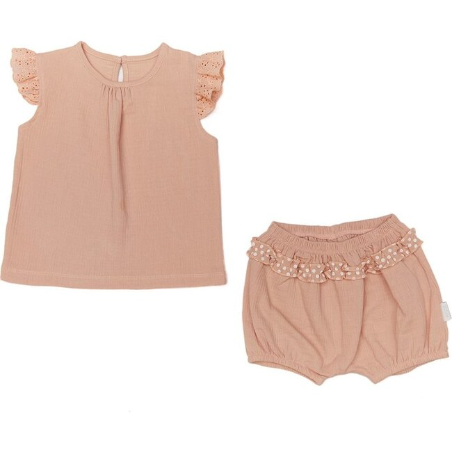 Ruffle Outfit Set, Pink