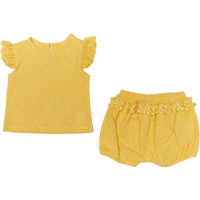 Ruffle Outfit Set, Yellow