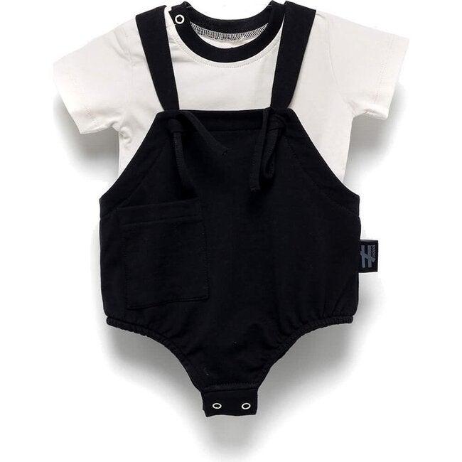 Romper & Tee Outfit, Black