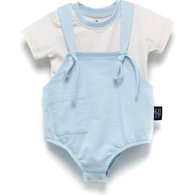 Romper & Tee Outfit, Blue
