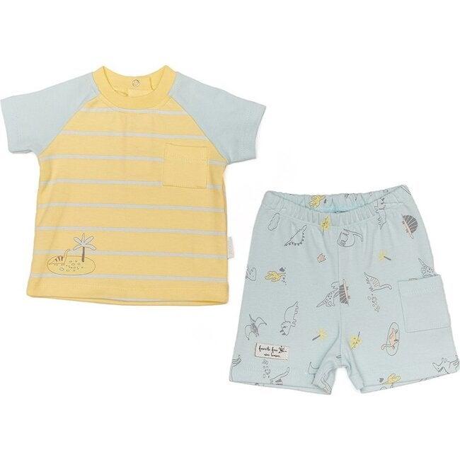 Dinosaur Team Outfit Set, Yellow