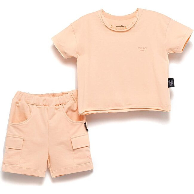 Basic Summer Outfit, Salmon Pink
