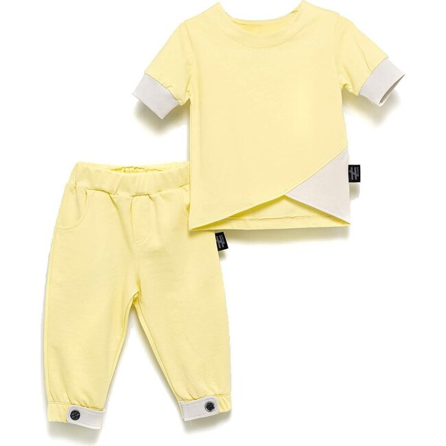 Assymetric Outfit Set, Yellow