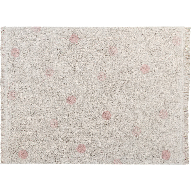 Hippy Dots Washable Rug, Natural/Vintage Nude - Rugs - 1