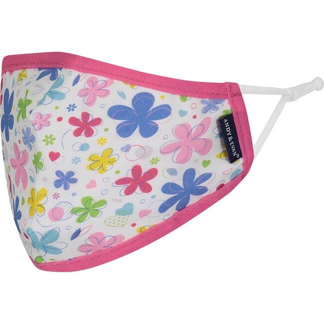 Girls 4-Pack Child Face Masks, Hot Pink