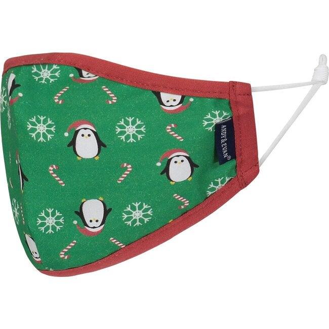 4-Pack Child Holiday Face Masks, Penguins & Dinos