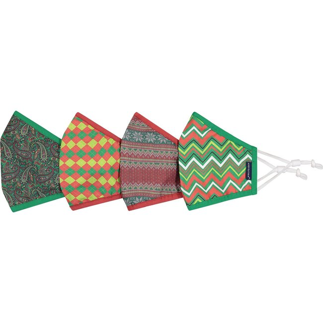 4-Pack Adult Holiday Face Masks, Patterns