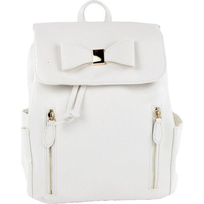 Tallulah Backpack, White - Bags - 1