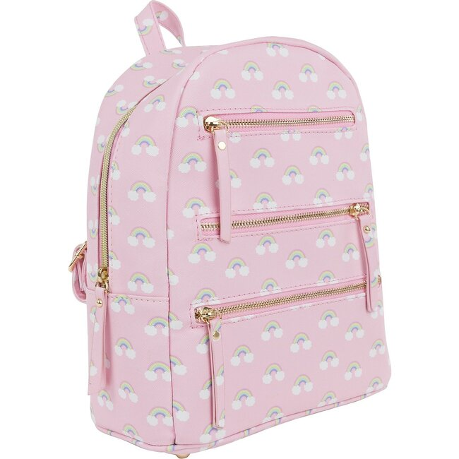 Emily Backpack, Cloudy Rainbow Pink